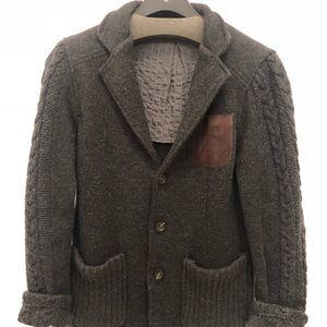 Men wool cardigan